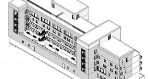 bouwvoorbereidingstekeningen_woonbedrijfsgebouw - 3D View - 3D_Achterzijde