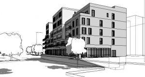 bouwvoorbereidingstekeningen_woonbedrijfsgebouw - 3D View - Perspectief