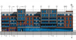 bouwvoorbereidingstekeningen_woonbedrijfsgebouw - Elevation - Noord