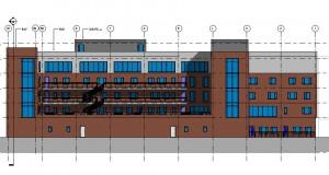 bouwvoorbereidingstekeningen_woonbedrijfsgebouw - Elevation - Zuid